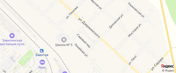 Школьный переулок на карте Завитинска с номерами домов