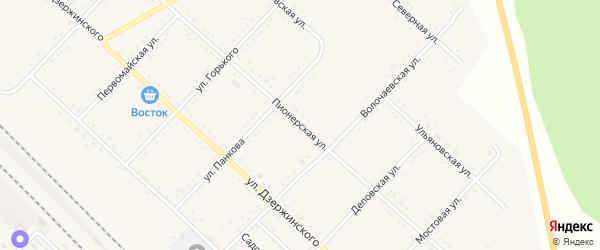 Пионерская улица на карте Завитинска с номерами домов