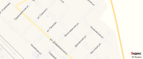 Волочаевская улица на карте Завитинска с номерами домов