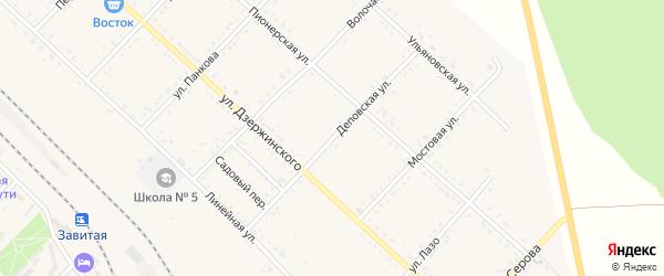 Деповская улица на карте Завитинска с номерами домов