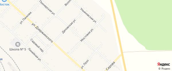Мостовая улица на карте Завитинска с номерами домов