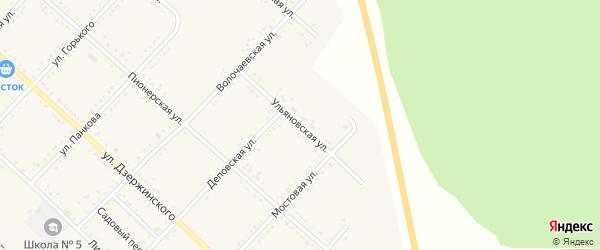 Ульяновская улица на карте Завитинска с номерами домов