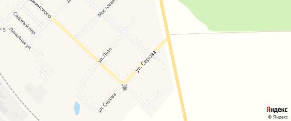 Улица Серова на карте Завитинска с номерами домов