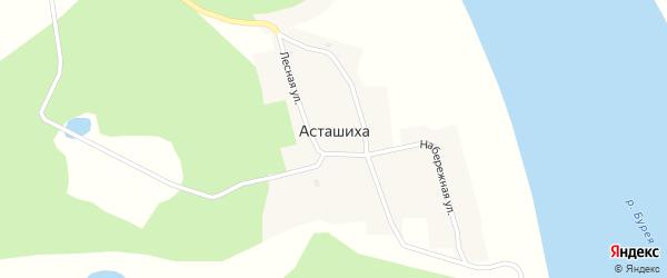 Пограничная улица на карте села Асташихи с номерами домов
