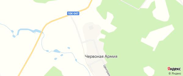 Карта села Червоная Армии города Завитинска в Амурской области с улицами и номерами домов