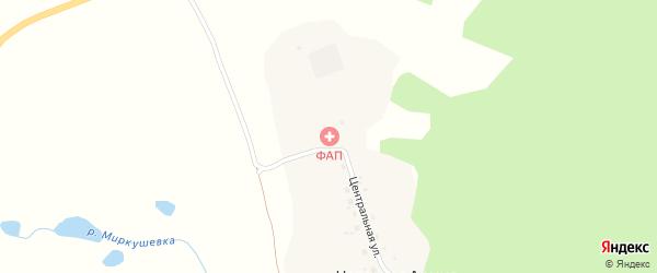 Центральная улица на карте села Червоная Армии с номерами домов