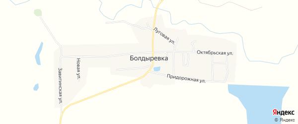 Карта села Болдыревки в Амурской области с улицами и номерами домов