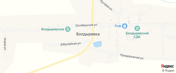 Центральная улица на карте села Болдыревки с номерами домов