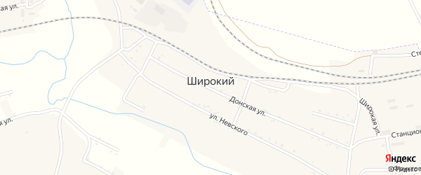 Улица Вахрушева на карте Широкого поселка с номерами домов
