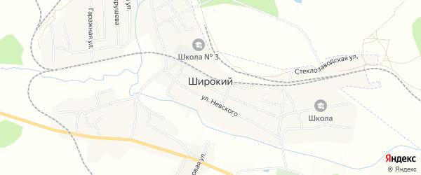 Карта Широкого поселка города Райчихинска в Амурской области с улицами и номерами домов