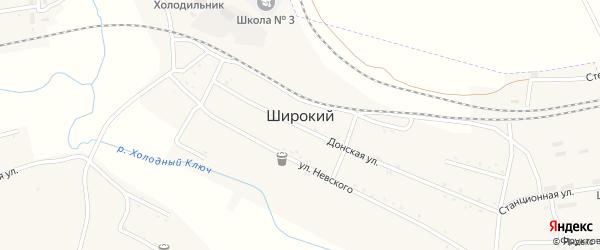 Цветочный переулок на карте Широкого поселка с номерами домов