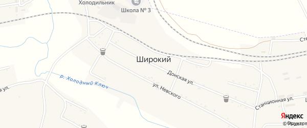 Переулок Вахрушева на карте Широкого поселка с номерами домов