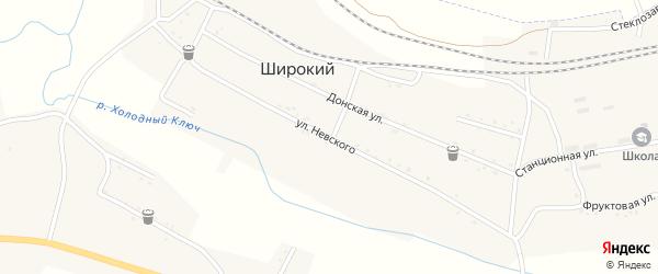 Улица Невского на карте Широкого поселка с номерами домов