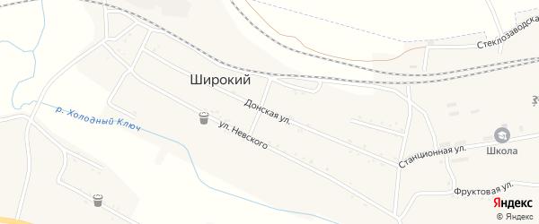 Донская улица на карте Широкого поселка с номерами домов