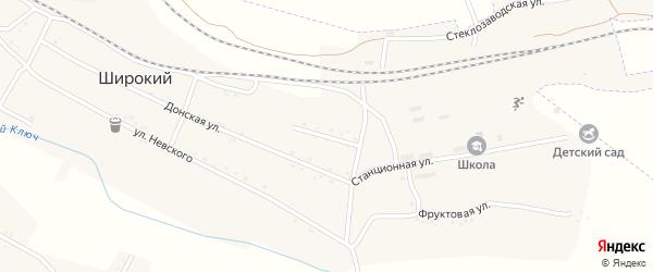 Вокзальная улица на карте Широкого поселка с номерами домов