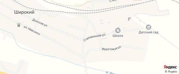 Стадионная улица на карте Широкого поселка с номерами домов