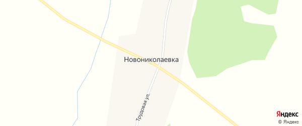 Трудовая улица на карте села Новониколаевки с номерами домов