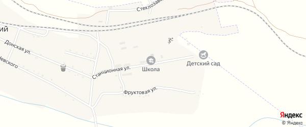 Станционная улица на карте Широкого поселка с номерами домов