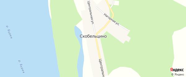 Зеленая улица на карте села Скобельцино с номерами домов