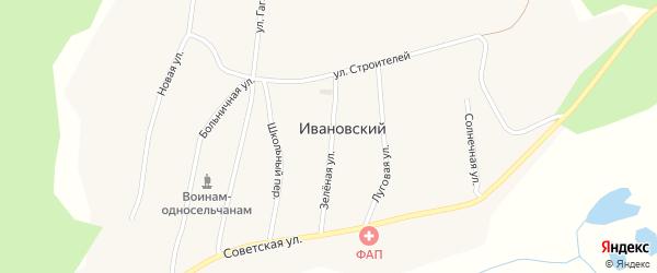 Зеленая улица на карте Ивановского поселка с номерами домов