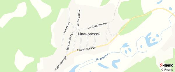 Карта Ивановского поселка в Амурской области с улицами и номерами домов