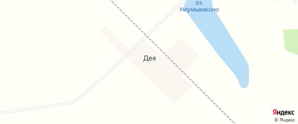 Линейная улица на карте села Деи с номерами домов