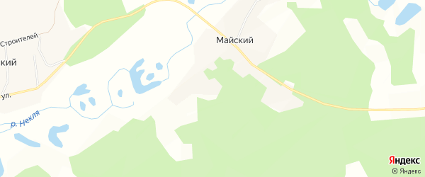 Карта Майского поселка в Амурской области с улицами и номерами домов