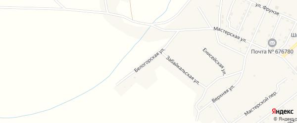 Белогорская улица на карте поселка Новорайчихинска с номерами домов