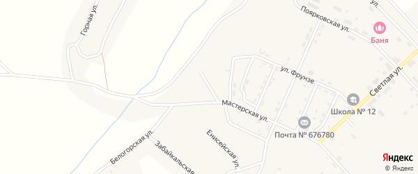 Улица 46 лет Октября на карте поселка Новорайчихинска с номерами домов