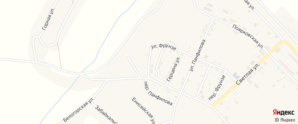 Улица Герцена на карте поселка Новорайчихинска с номерами домов