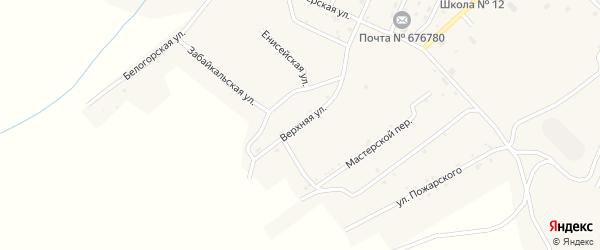 Верхняя улица на карте поселка Новорайчихинска с номерами домов