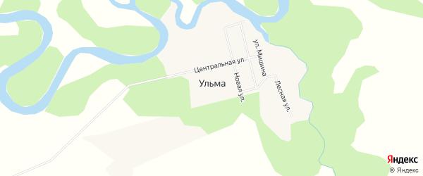 Карта села Ульмы в Амурской области с улицами и номерами домов