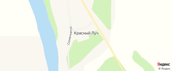 Садовая улица на карте села Красного Луча с номерами домов