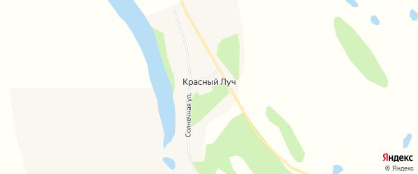 Карта села Красного Луча в Амурской области с улицами и номерами домов