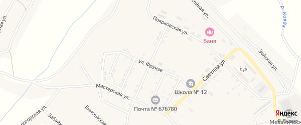 Улица Панфилова на карте поселка Новорайчихинска с номерами домов
