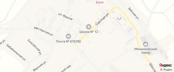 Театральная улица на карте поселка Новорайчихинска с номерами домов