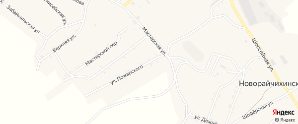 Улица Пожарского на карте поселка Новорайчихинска с номерами домов