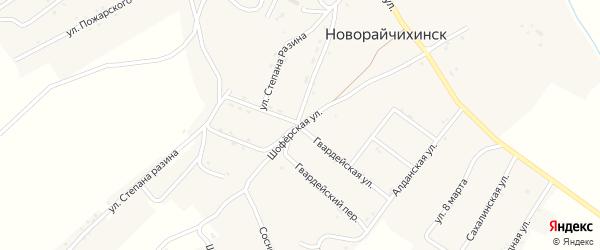 Шоферская улица на карте поселка Новорайчихинска с номерами домов