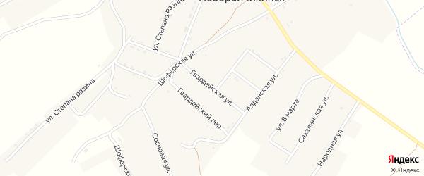 Гвардейская улица на карте поселка Новорайчихинска с номерами домов
