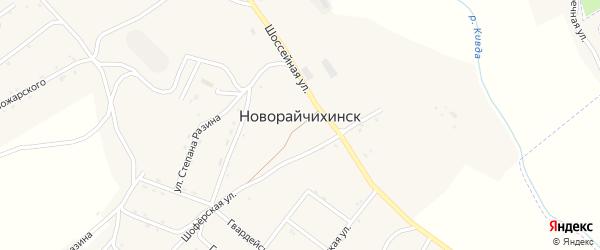 Переулок Фрунзе на карте поселка Новорайчихинска с номерами домов