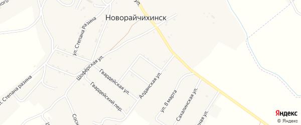 Красноармейская улица на карте поселка Новорайчихинска с номерами домов
