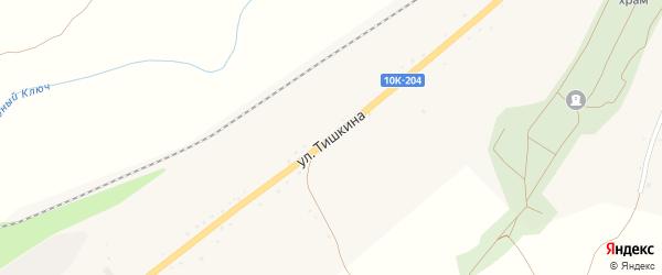 Улица Тишкина на карте поселка Прогресса с номерами домов