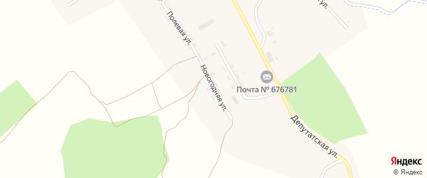 Новогодняя улица на карте поселка Новорайчихинска с номерами домов
