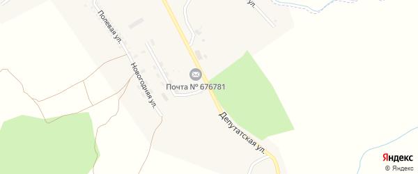 Депутатская улица на карте поселка Новорайчихинска с номерами домов