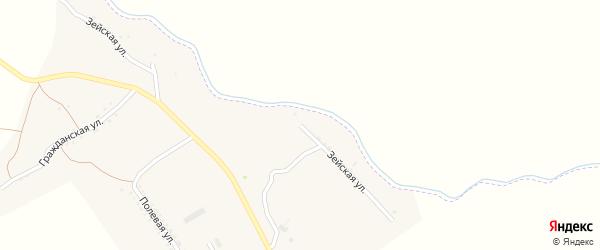 Зейская улица на карте поселка Новорайчихинска с номерами домов