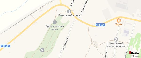 Крайняя улица на карте поселка Прогресса с номерами домов