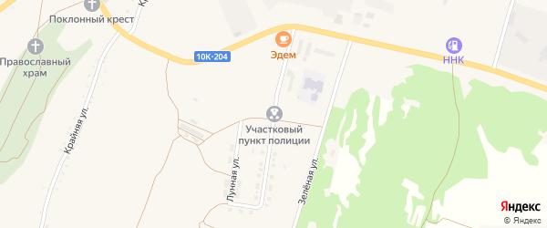 Солнечная улица на карте поселка Прогресса с номерами домов