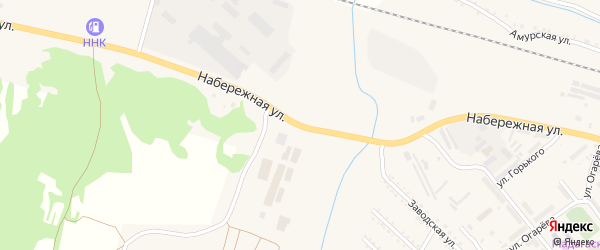 Набережная улица на карте поселка Прогресса с номерами домов