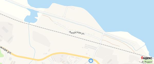 Амурская улица на карте поселка Прогресса с номерами домов