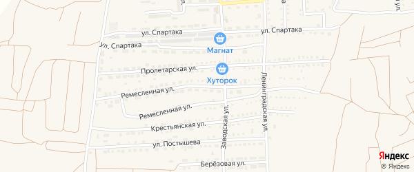 Ремесленная улица на карте поселка Прогресса с номерами домов
